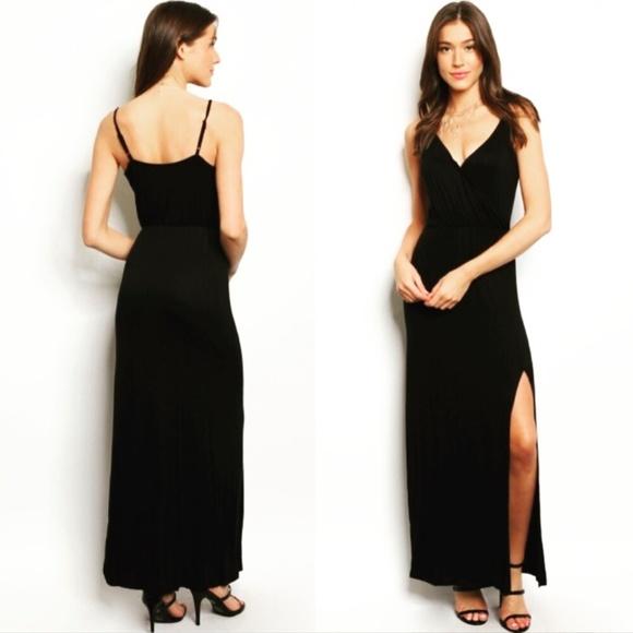 7bec6ba166 Wila Black Chic Spaghetti Strap Maxi Dress NWT